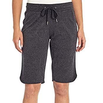 Eddie Bauer Ladies French Terry Bermuda Short in Charcoal Heather Size Small