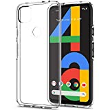 Spigen Liquid Crystal Kompatibel mit Google Pixel 4a Hülle, Transparent TPU Silikon Handyhülle Durchsichtige Schutzhülle Hülle Crystal Clear ACS01011