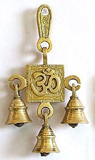 PARIJAT HANDICRAFT Brass Wall Hanging Ghanti Beautiful Decoratives Wall Hanging Pure Brass Home Decor Handcrafted Brass Gi...