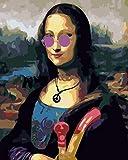 SZYUY Paint by Numbers Adultos Maquillaje Mona Lisa De Pintura Al Óleo para Bricolaje,con Pinceles Y Pinturas 40,6X50,8 Cm Sin Marco,Decoraciones para El Hogar