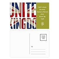 英国の英国国旗ユニオンジャックビッグ・ベン 詩のポストカードセットサンクスカード郵送側20個