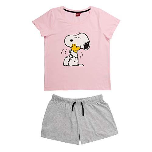 United Labels Snoopy Damen Pyjama kurz, Frauen Schlafanzug Peanuts (Medium)