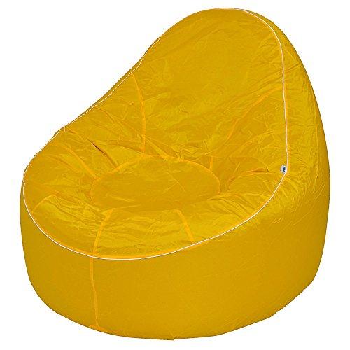 Avenli Pouf II Lounge Ø 118x110 cm stoel Tuinstoel zitkussen zitzak opblaasbaar Outdoor Indoor geel