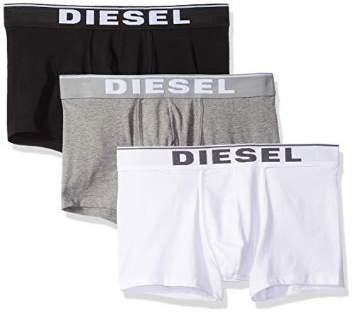 Diesel Herren Boxershorts UMBX-DAMIENTHREEPACK (3er Pack), Mehrfarbig (Dark Grey Melange/Black/Bright White E3843-0Jkkb), L