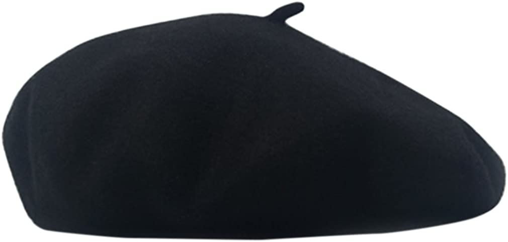 AIYUE Women Men Wool French Beret Solid Color Warm Beanie Hat Artist Painter Fancy Dress Costumes