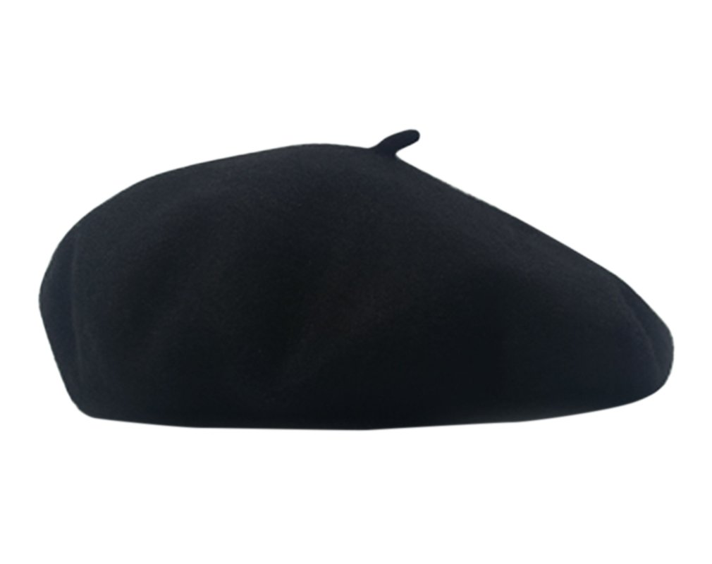Available at Amazon: AIYUE Women Men Wool French Beret Solid Color Warm Beanie Hat Artist Painter Fancy Dress Costumes