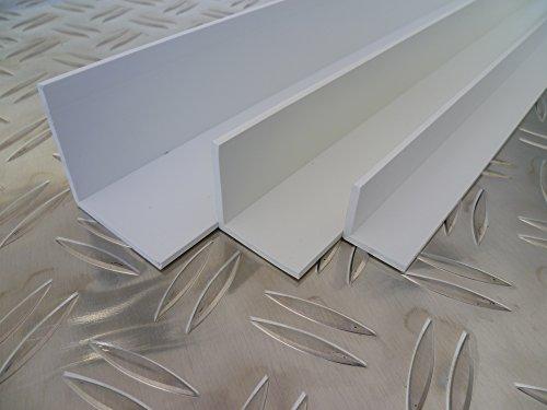 B&T Metall Kunststoffwinkel Hart PVC weiß 60x60x2,5 mm Länge 2 mtr