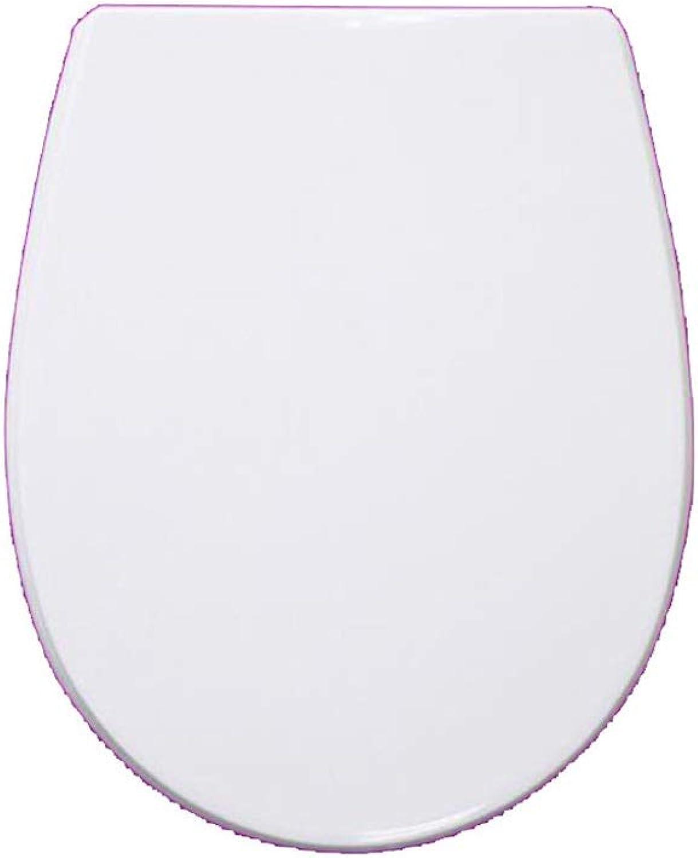 WLDSH WC-Deckel in U V O-Form mit verstellbarem Scharnier, hochBestendiger WC-Sitz mit Zwei Befestigungssets (Farbe   Weiß, Größe   34  40CM)