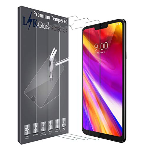 LK [3 Pack] Screen Protector for LG G7 Thinq Tempered Glass 9H Hardness, HD Clarity, Anti Scratch, Case Friendly