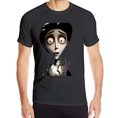 MarySWest Tim Burtons Leichenbraut Herren Quick Dry T-Shirt Militär T-Shirt Herren Outdoor Camping Wanderhemden Kurzarm
