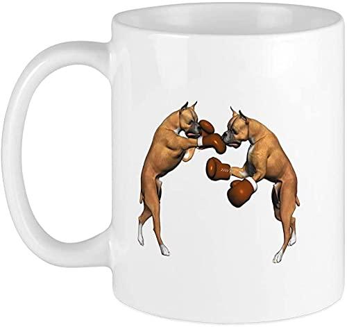 Boxer Mug 396,9 g tazza da caffè – forno a microonde e lavastoviglie – Boxer Cani Boxe – Boxer Cani Cani Boxe