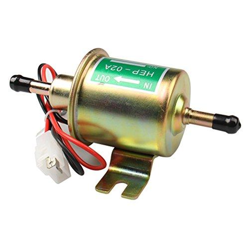Universal HEP02A Elektrische Kraftstoffpumpe, 12V, Heavy-Duty Metall 4-7 PSI Niederdruck Inline Kraftstoffpumpe Diesel Benzin