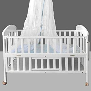 سرير خشبي للأطفال الرضع ، أبيض ، D170589