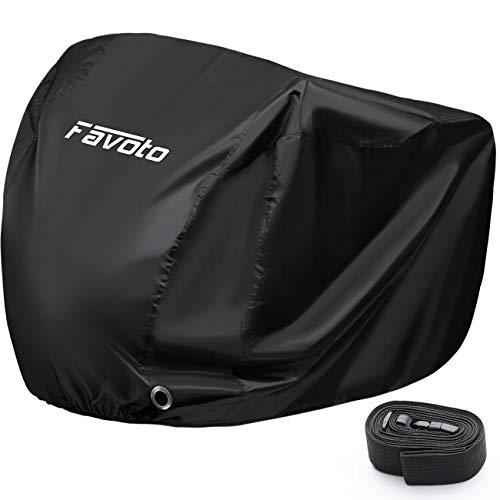 Favoto Funda para Bicicleta Exterior, 210D Oxford Cubierta Protector para 2 o 3 Bicicletas Impermeable al Aire Libre contra Lluvia/UV/Polvo/Nieve para Montaña Carretera, 200x105x110cm Negro