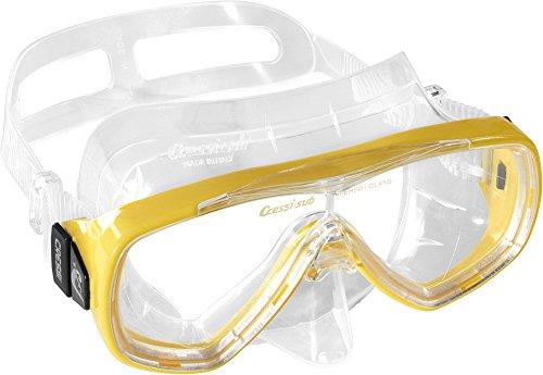 Cressi Taucherbrille Erwachsene, Herren und Damen - Tauchermaske, Made in Italy, gelb, DN207010