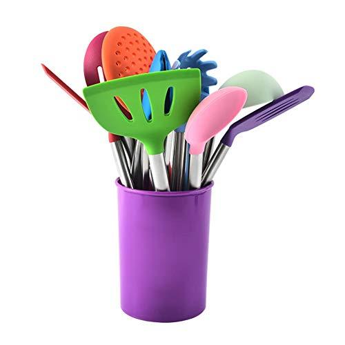 BIANHAO Color Silicona Juego de Utensilios de Cocina Juego de Cuchara y Espátula Herramientas para Hornear 15PCS
