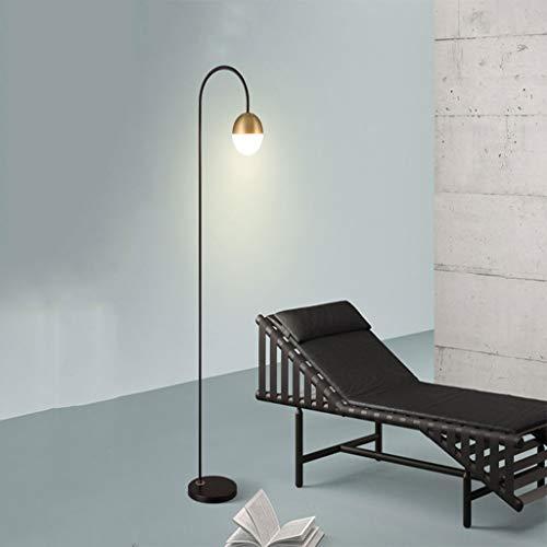 No band eenvoudige ijzeren kunst-vloerlamp, moderne led-vloerlamp, zwart draagbare leeslamp staande lamp voor woonkamer slaapkamer 404