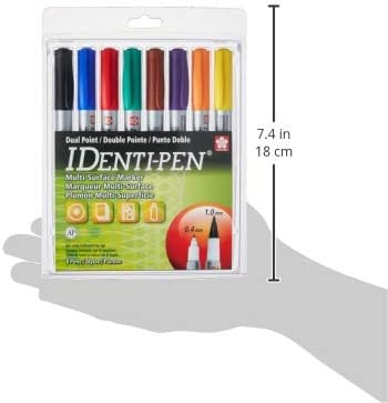 Sakura 44161 4-Piece Identi-Pen Assorted Colors Permanent Marker Set