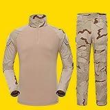 MILASIA Camisa de Combate Militar Airsoft para Hombre Camisa táctica de Uniforme de Camuflaje Mangas de Secado rápido y Traje de Combate Trajes de Combate Pantalones Pantalones de Paintball