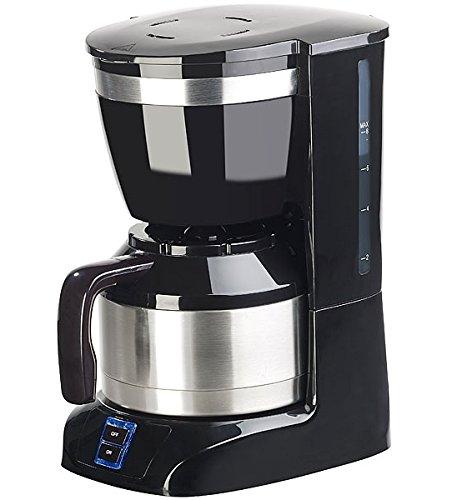 Rosenstein & Söhne Kaffeemaschine: Filterkaffee-Maschine mit Isolierkanne, 1 Liter, 8 Tassen, 800 Watt (Kaffeemaschine mit Isolierkanne)
