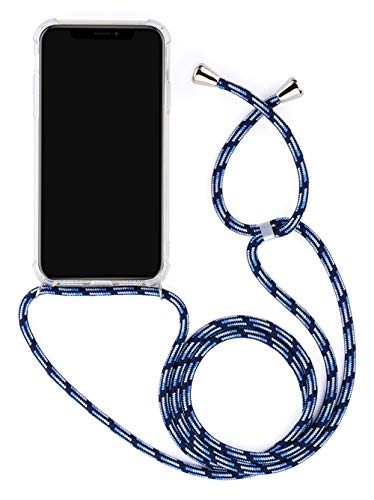 Anti-rasgu/ños 2018 Suave Silicona Transparente TPU Carcasa de movil con Colgante//Cadena Anti-Choque , Moda y Practico Multicolor YuhooTech Funda con Cuerda para Samsung Galaxy A6 Plus