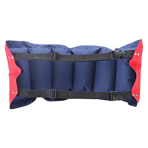 GeKLok - Cintura da nuoto gonfiabile con cintura elastica regolabile per adulti e bambini principianti, attrezzatura per allenamento nuoto