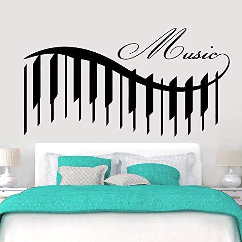 Muziek Muurstickers voor Klas Piano Mooie Liedjes Gegarandeerd Kwaliteit Vinyl Muurstickers voor Kinderkamer Decoratie 57x106cm