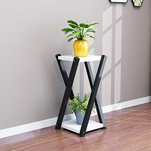 Balcon voyantes Cadre de fleurs en fer forgé multi-étages salon radis vert balcon charnue pot pot de fleurs 60 * 20 * 20 cm Plantes d'extérieur Présentoir (Couleur : H)
