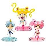liuyb 3Pcs Anime Figure Sailor Moon Action Figure Twinkle Statue Mercury Jupiter Venus Gashapon Capsule Mini Children's Birthday Gifts Toys 6Cm