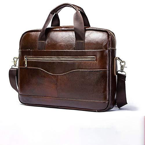 Ai-yixi Diseño clásico para hombre y negocios, bolso de piel para ordenador portátil, bolso de viaje, bolsa de viaje, perfecto salvaje (color : café, tamaño: XL)