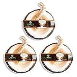 LABOTE Handgemachte thailändische Bio Naturseife Kokosnuss mit typischem Duft, 3 Stück