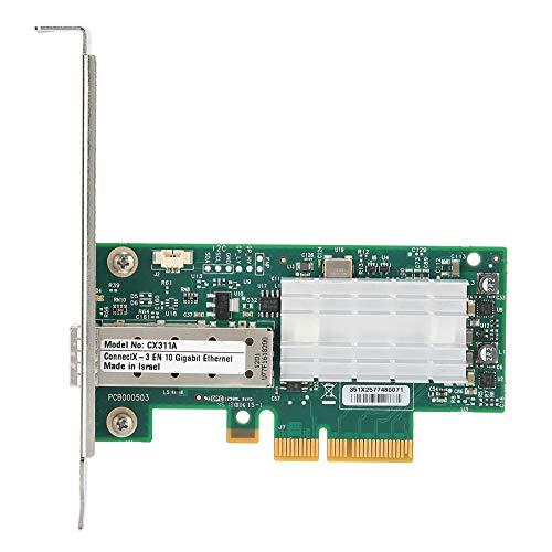 メラノックス CX311A‑XCAT ネットワークカード シングルポート 10Gネットワークアダプタ PCI-Ex4カード LANカード PCIeネットワークアダプタ デスクトップストレージアダプター Windows対応