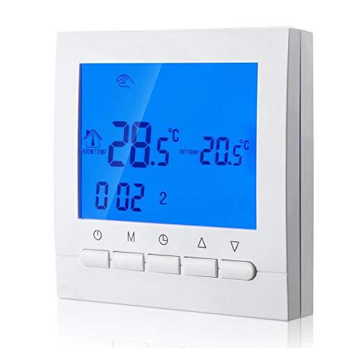 KPS Termostato digital calefacción conexión 2 cables con programación 6 periodos dias laborables y 2 periodos fines de semana KPS CONFORTLINE TERMODIGI