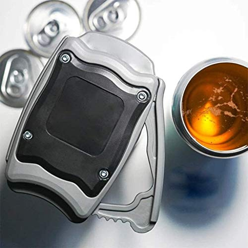 hengyuany Tragbare Sicherheit Einfacher manueller Dosenöffner, Go Swing Topless Dosenöffner, professioneller Bierdosenöffner Flaschenöffner (1 PCS)