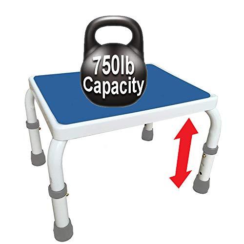 Platinum Health AdjustaStep Height Adjustable Step Stool, Heavy-Duty,...