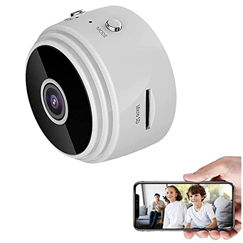 Hitch Monitoring Device, Wireless Magnetic Trailer Hitch Rear View Camera,a9 mini wifi hd 1080p wireless ip camera,Motion Detection Video Micro Nanny Cam (White)