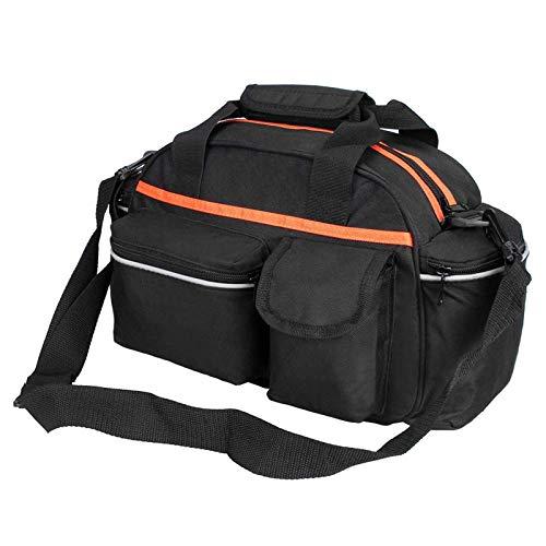 Bolsa de asiento trasero para bicicleta de 15 l, cesta de almacenamiento de equipaje, accesorios para bicicleta de montaña