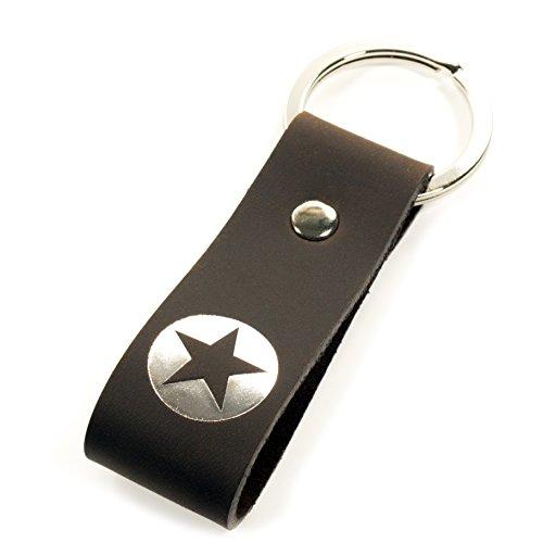 Luminick Schlüsselanhänger Stern Silber Liebe Leder für Männer Frauen Partner Geschenk zu Weihnachten Geburtstag - schicke Geschenkbox