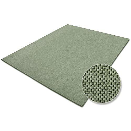 casa pura Tapis de Salon Vert Effet sisal   Polypropylene + Coton   Chambre, Couloir   7 Couleurs et 7 Tailles - Sabang, 80x150cm