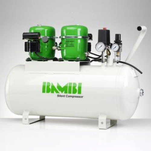 Bambi BB50D Luftkompressor, leise, 50 Liter, 1 HP