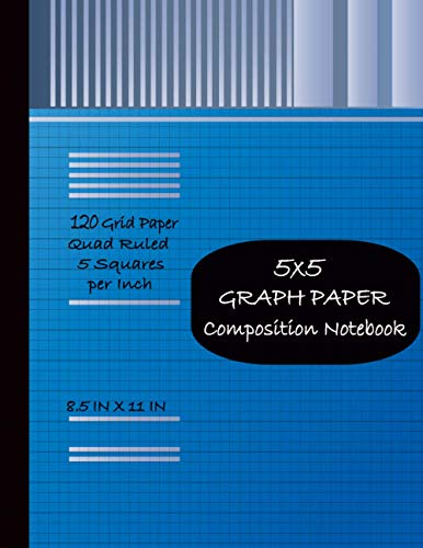 5x5 Graph Paper Composition Notebook: Blue Grid Paper Notebook,Quad Ruled 5 Squares per Inch,(8x11 in/21.59x27.94 cm)110 Pages.