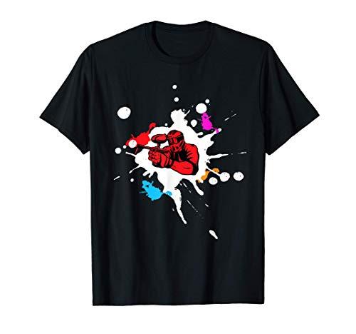 Paintball Softair Airsoft & Farbklexen und Paintballspieler T-Shirt