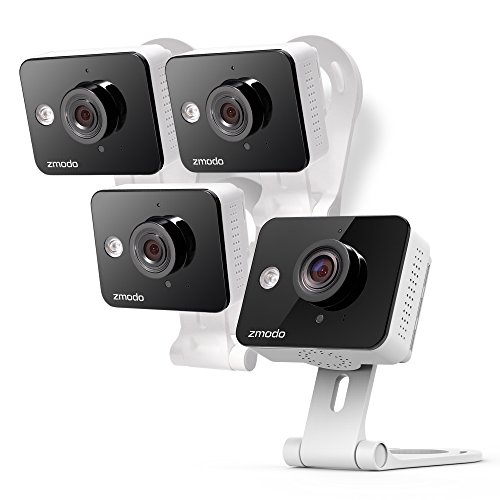 Zmodo Wireless Two-Way Audio Home Security Camera (4 Pack) Smart HD WiFi with Night Vision