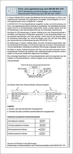 Form- und Lagetolerierung nach DIN EN ISO 1101: Teil 2: 2D/3D-Darstellung inkl. dimensionelle Tolerierung Faltblatt mit Auszügen aus der Norm