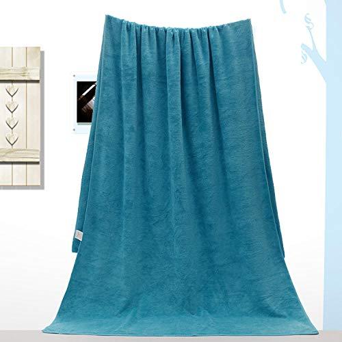Lyolk Toallas de baño Grandes para Adultos, sábanas absorbentes Suaves para Hombres y Mujeres, Toallas Grandes, Azul Lago [Grosor Medio] _120x200cm