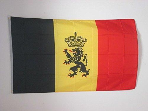 AZ FLAG Flagge Belgien DIENSTFLAGGE 150x90cm - BELGIENS Fahne 90 x 150 cm - flaggen Top Qualität