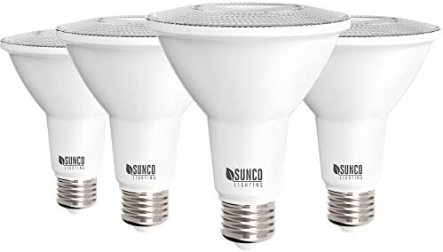 Sunco Lighting 4 Pack PAR30 LED Bulb 11W 75W Dimmable 2700K Soft White 850 LM E26 Base Indoor product image