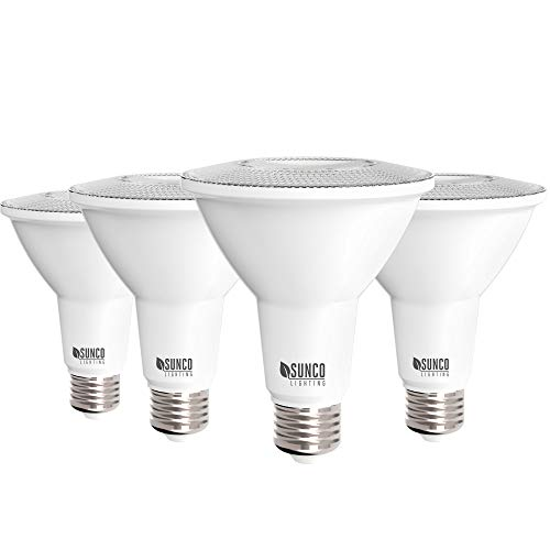 Sunco Lighting 4 Pack PAR30 LED Bulb, 11W=75W, Dimmable, 2700K Soft White, 850 LM, E26 Base, Indoor/Outdoor Spotlight, Waterproof - UL & Energy Star