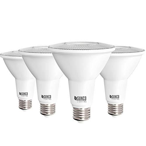 Sunco Lighting 4 Pack PAR30 LED Bulb, 11W=75W, Dimmable, 3000K Warm White, 850 LM, E26 Base, Indoor/Outdoor Spotlight, Waterproof - UL & Energy Star