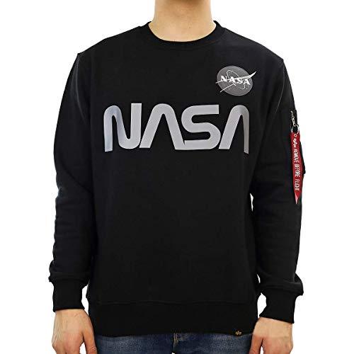 Alpha Industries Sweater NASA Reflective, Größe:M, Farbe:black